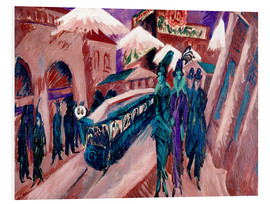 Cuadro de PVC  Leipziger Strasse with electric train - Ernst Ludwig Kirchner