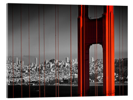 Cuadro de metacrilato  Golden Gate Bridge in Detail - Melanie Viola