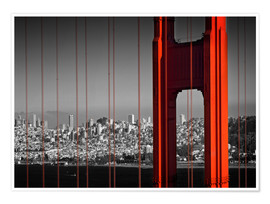 Póster  Golden Gate Bridge in Detail - Melanie Viola