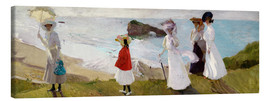 Lienzo  Lighthouse Walk at Biarritz  - Joaquin Sorolla y Bastida