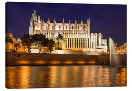 Lienzo  Cathedral of Palma de Mallorca at night - Christian Müringer