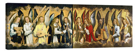 Lienzo  Christ with angels - Hans Memling