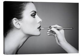 Lienzo  At the make-up artist
