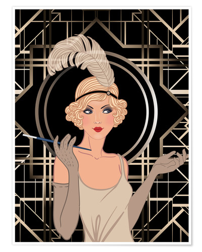 Póster Smart Flapper Girl