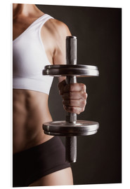 Forex  Sportswoman with dumbbell