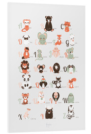 Cuadro de PVC  abc animals   english - Kanzi Lue
