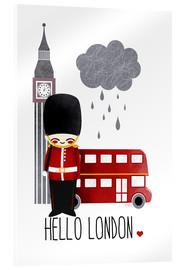 Cuadro de metacrilato  hello london - Kanzi Lue