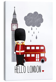 Lienzo  hello london - Kanzi Lue