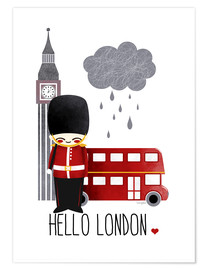 Póster  hello london - Kanzi Lue