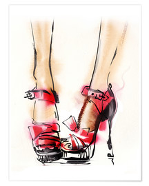 Póster  Red High Heels