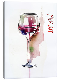 Lienzo  Glass of Merlot