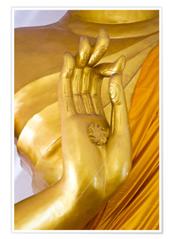 Póster golden hand of God