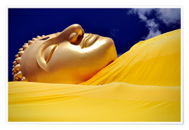 Póster  resting Buddha in Gold