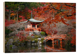Madera  Daigoji Temple in Kyoto in autumn