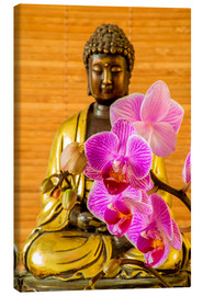 Lienzo  Buddha with orchid