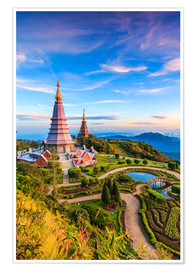 Póster  Pagoda, Doi Inthanon national park