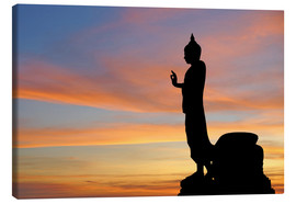 Lienzo  buddha with beautiful sky