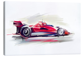 Lienzo  Red Race Car