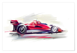 Póster  Red Race Car