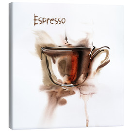 Lienzo  A cup of espresso