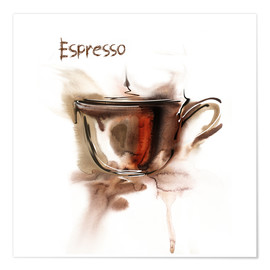 Póster A cup of espresso