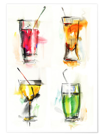 Póster  Colorful drinks