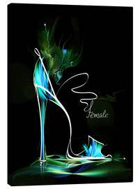 Lienzo  Blacklight High Heel