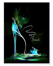 Póster  Blacklight High Heel