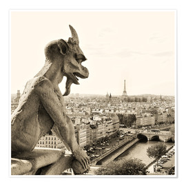 Póster  Gargoyle over Paris
