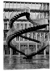 Cuadro de metacrilato  Endless steel stairway in Munich