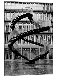 Aluminio-Dibond  Endless steel stairway in Munich