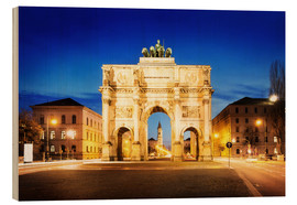 Victory Arch in Munich at night