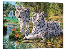 Lienzo  White Tiger Clan - Steve Read