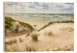 Cuadro de madera  Sand dunes on the Baltic sea