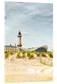 Cuadro de metacrilato  Old lighthouse and Teepott building at Warnemünde