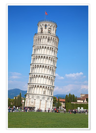 Póster  Leaning tower of Pisa, Italy