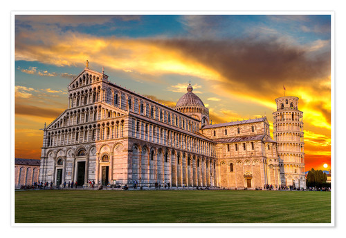 Póster Pisa in the sunset