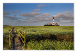 Póster  Lighthouse in the salt marshes on the North Coast