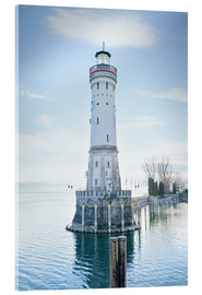 Cuadro de metacrilato  beautiful lighthouse at Lindau