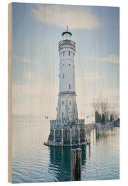 Cuadro de madera  beautiful lighthouse at Lindau