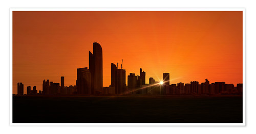 Póster Sunset in Abu Dhabi