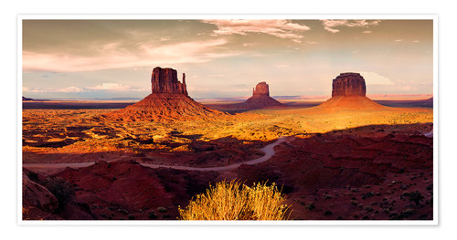 Póster Monument Valley Gold