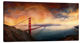 Lienzo  Frisco Golden Gate Rainbow - Michael Rucker