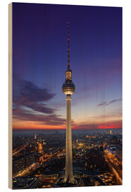 Berlin TV tower at night
