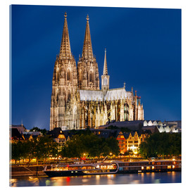 Metacrilato  Night view of Cologne Cathedral