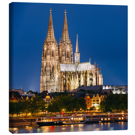 Lienzo  Night view of Cologne Cathedral
