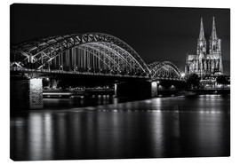 Lienzo  Cologne Cathedral and bridge