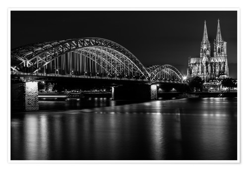 Póster Cologne Cathedral and bridge