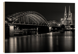 Cuadro de madera  Cologne Cathedral and bridge