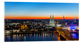 Metacrilato  Colorful Cologne skyline at night